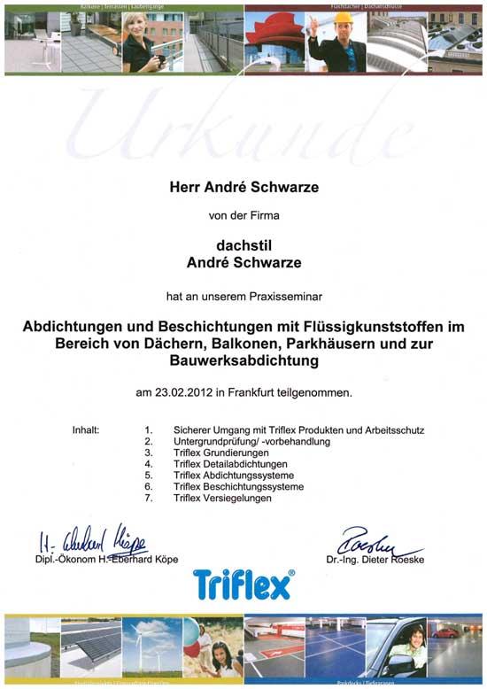 Praxisseminar Abdichtung Dachdecker Andre Schwarze